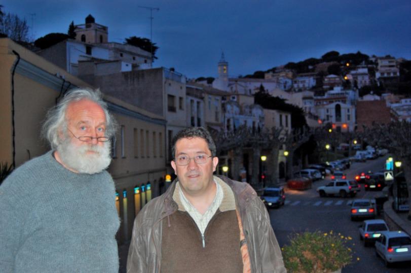 Francesc Vila (Arrels Cultura de Caldes) i Joaquim Graupera (Grup d'Història del Casal-Mataró)
